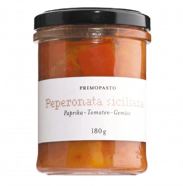 Peperonata siciliana, Paprika-Tomaten-Gemüse