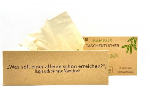 Bambus Taschentücher Box 100 Stk.