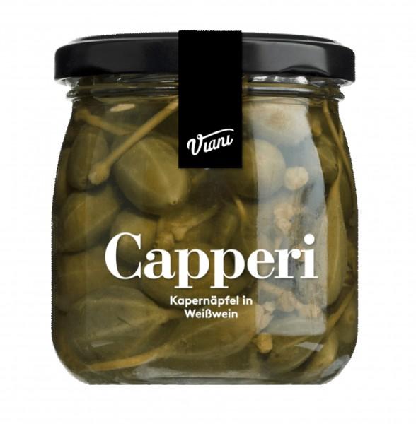 Kapernäpfel in Weißwein, Capperi