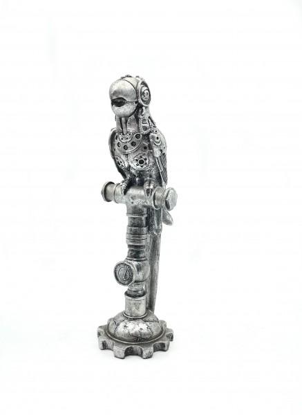 "Skulptur ""Steampunk Parrot"" aus Poly"