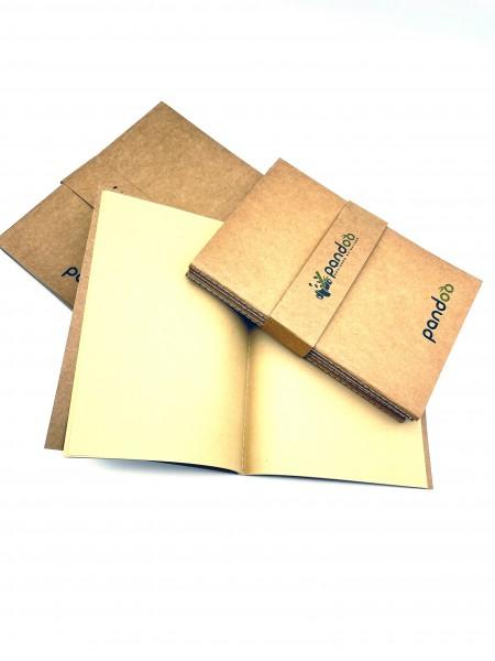 Bambus Notizhefte, A5-Format, 5 Stk.