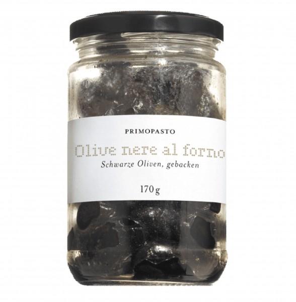 Schwarze Oliven, gebacken, mit Kern