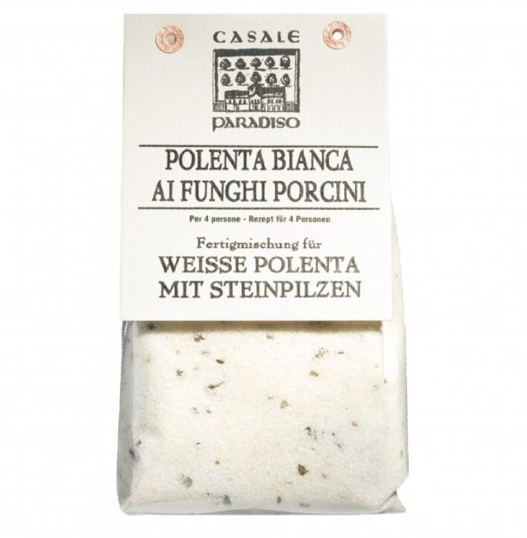 Polenta bianca ai funghi porcini