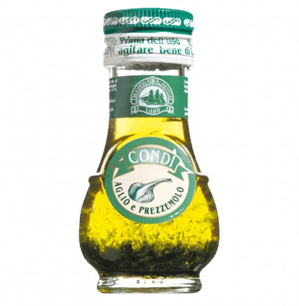 Knoblauchöl mit Petersilie, Olio mini