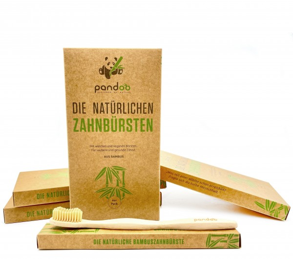 Bambus Zahnbürste, 4 Stk.